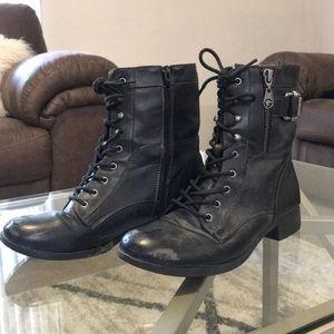 Guess black combat boots